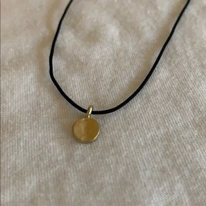 Urban Outfitters Gold Disk Charm Necklace